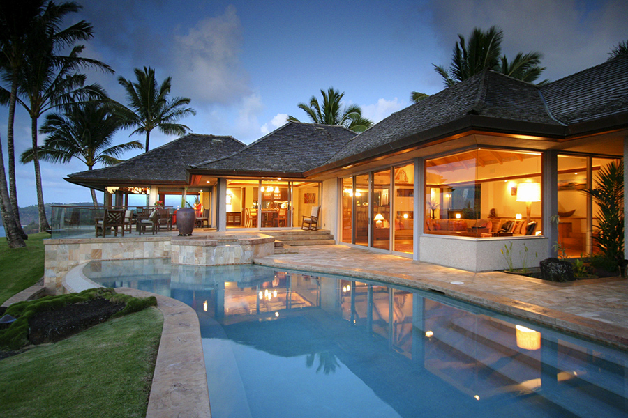 Kauai vacation rentals luxury homes kauai island vacations for Hawaii package homes